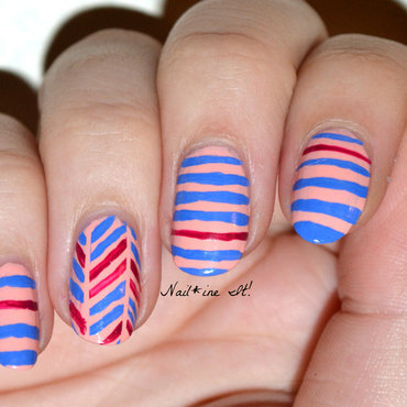 There's a Kerfuffle over the Herringbone nail art by Christine of Nail*ine It!