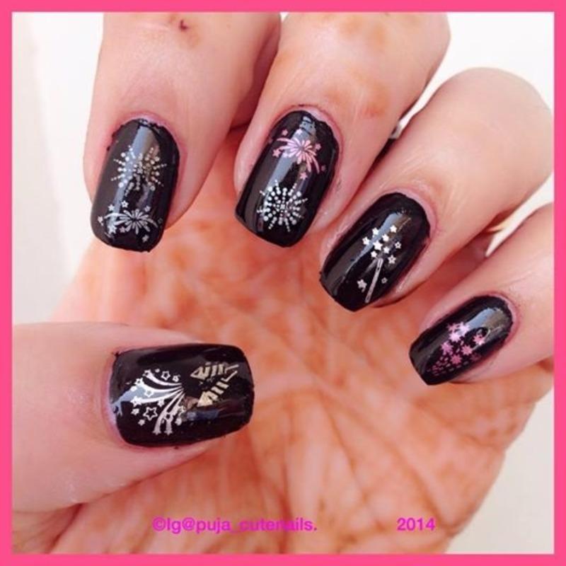 Crackers nails for Diwali  nail art by Puja Malhotra