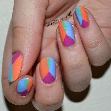 Julieg cruise collection summer 2014 colorblock geometric half moon nail art 83w thumb370f