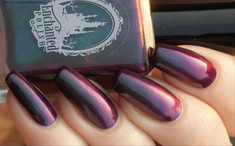 Enchanted Polish 2 A.M. Summer Midnight Swatch by greeench