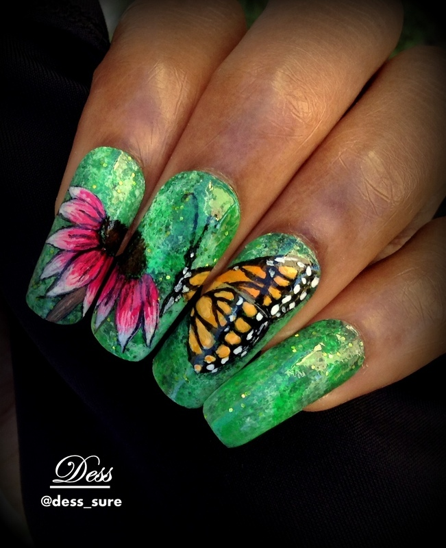 Royal butterfly  nail art by Dess_sure