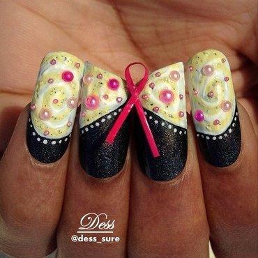 Save the tatas nail art by Dess_sure