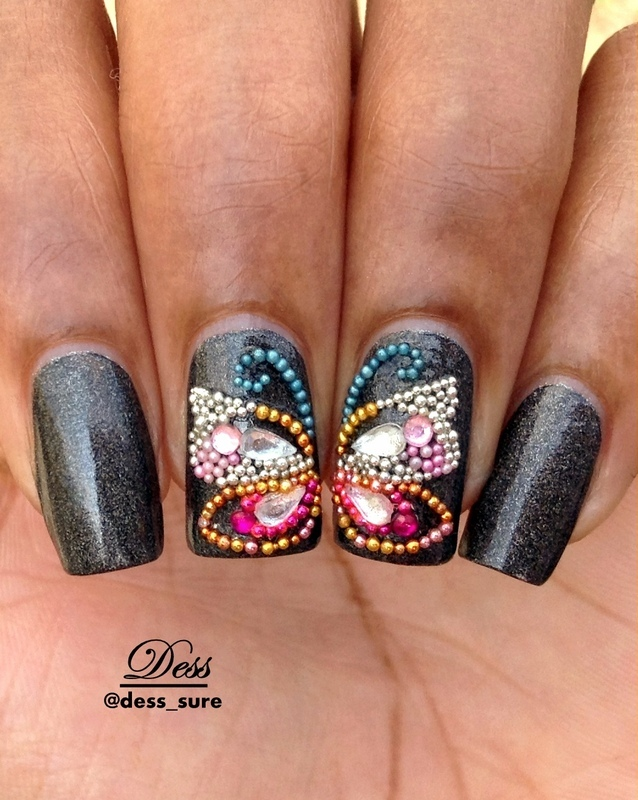 Micro-butterfly  nail art by Dess_sure