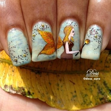 Fall fairy nail art by Dess_sure
