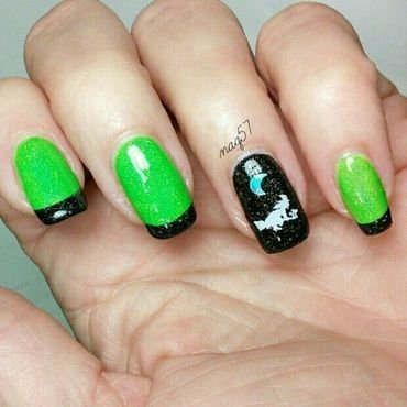 Holo Halloween nail art by Nora (naq57)