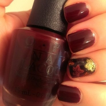 Fall Leaves  nail art by Steph