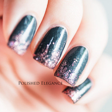 Pink glitter gradient nail art by Lisa