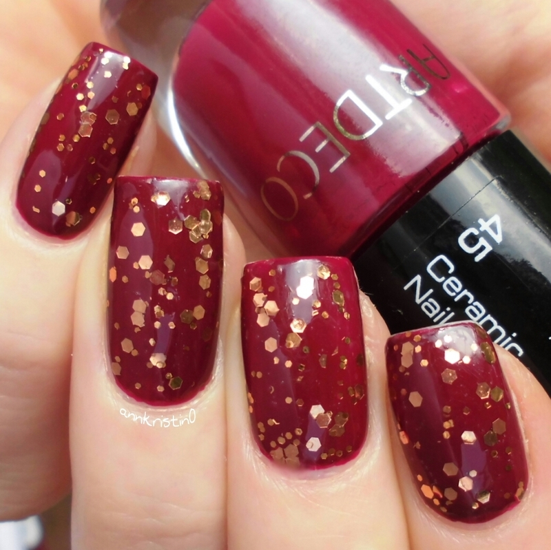 Orly Watch It Glitter and Artdeco No.45 Swatch by Ann-Kristin