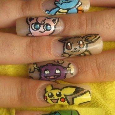 pokemon nail art by Ortal Cohen Nail Art