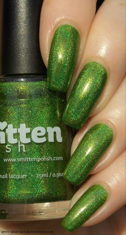 Smitten Polish Girl Sprouts Swatch by greeench