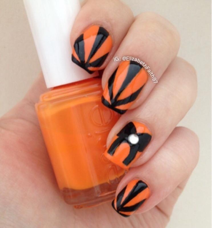 Halloween-ish Nails! nail art by PolishIsSweet