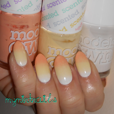 Pastel Candy Corn nail art by MyMintNails