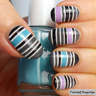 Stripes nail art thumb370f