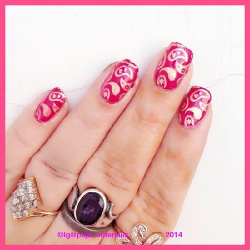 Paisley nail art nail art by Puja Malhotra