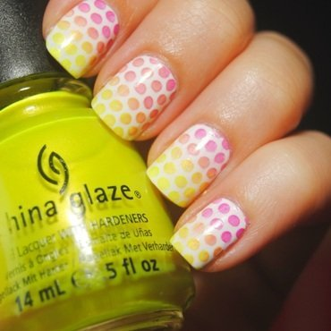 Summer Dots nail art by Lackopfer