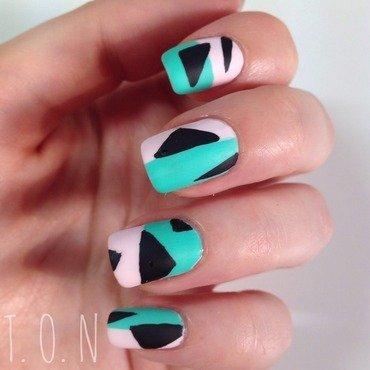 80s Abstract nail art by Tipped Off Nails