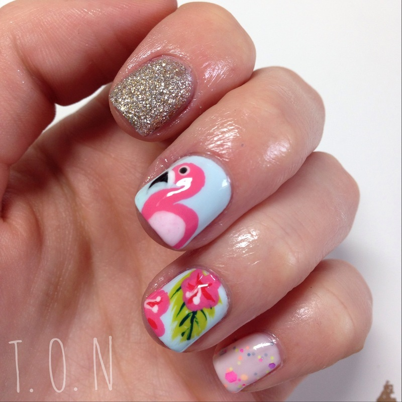 Tropical Paradise nail art by Tipped Off Nails