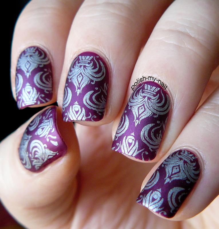 Matte wallpaper :) nail art by Ewlyn