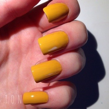 Barry M Mustard Swatch by Tipped Off Nails