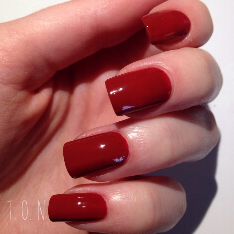 Barry M Chilli Swatch by Tipped Off Nails