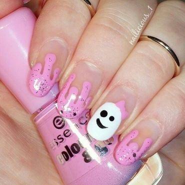 Cute ghost nail art by nailicious_1