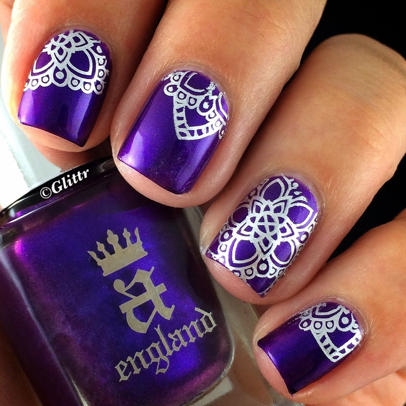 Purplesilver stamping nailart nail art by glittr nailpolis purplesilver stamping nailart nail art by glittr prinsesfo Gallery