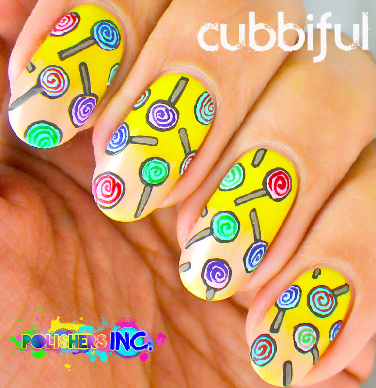 Polisher's Inc. - I Love Candy! nail art by Cubbiful
