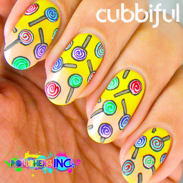 Polisher's Inc. - I Love Candy! nail art by Cubbiful