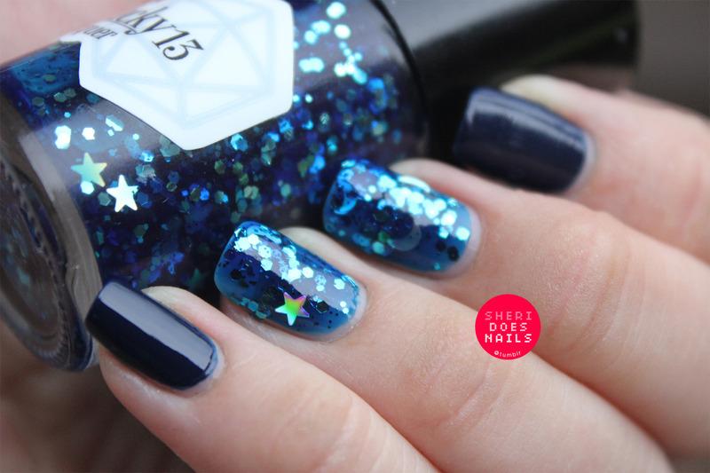 Space Jelly nail art by moon doggo