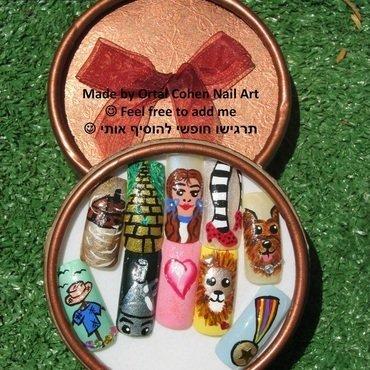 the wizard of oz nail art by Ortal Cohen Nail Art