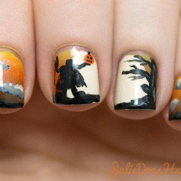 Headless Horseman Nail Art nail art by Julie