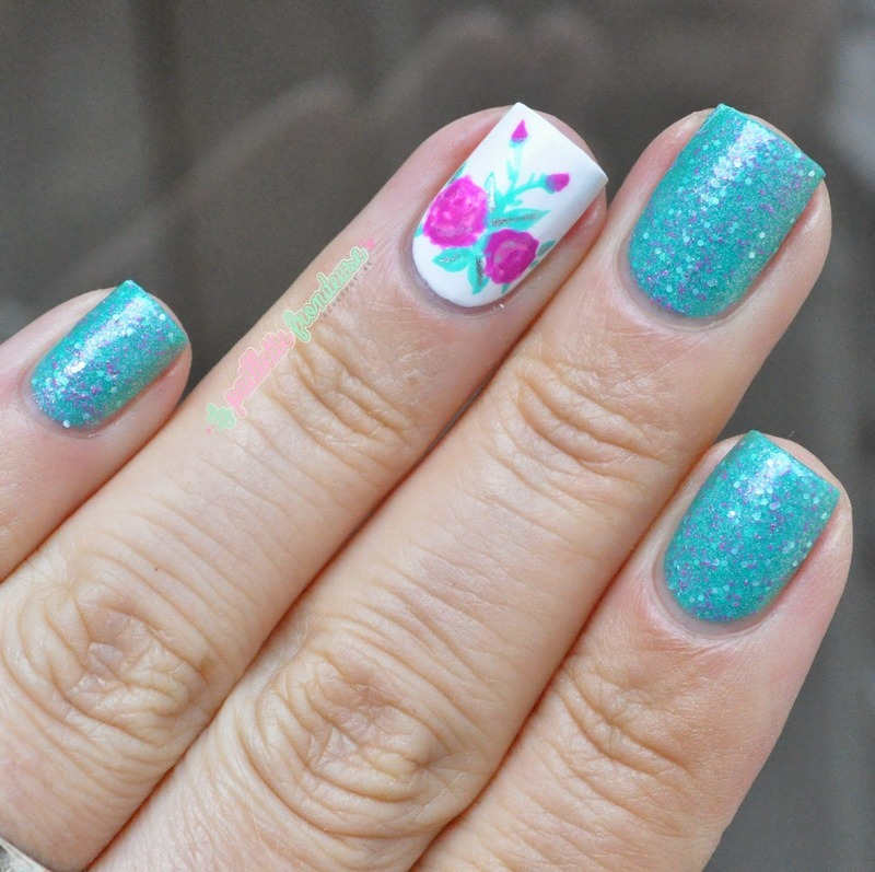 unicorn and roses nail art by nathalie lapaillettefrondeuse