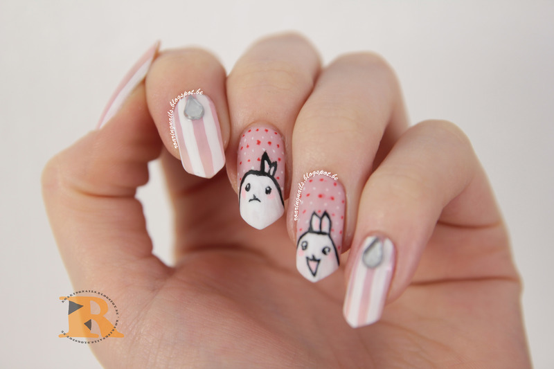 Cuties for Becca! nail art by Robin