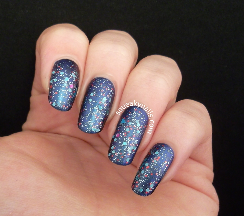 Hema Top Coat Matt and spell polish Jump Up Jump Up and Get Down Swatch by Squeaky  Nails