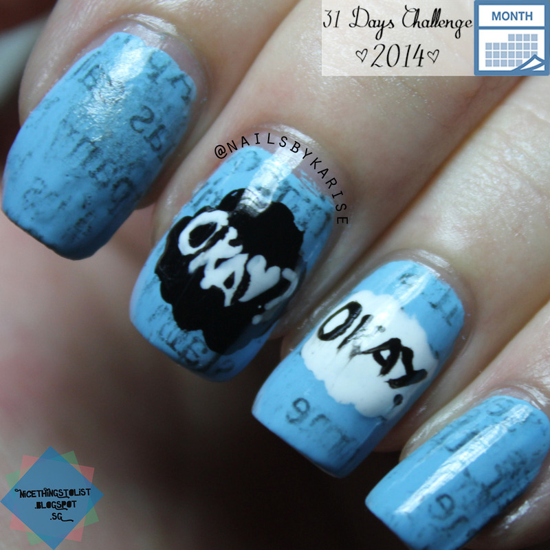 The Fault In Our Stars nail art by Karise Tan