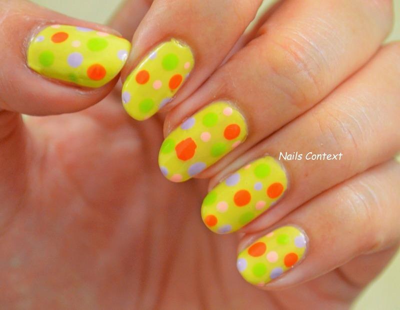 Pastel Halloween Dots nail art by NailsContext