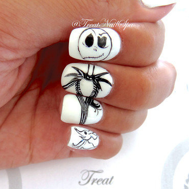 Jack Skellington is my hubby nail art by becca vo