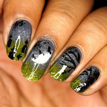 The Graveyard Scene nail art by Stacey  Castanha