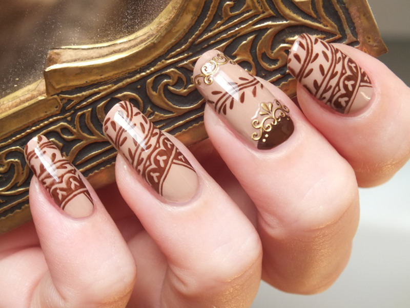 Henna Tattoo Nail Art By Tribulons Nailpolis Museum Of Nail Art