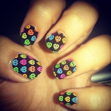 Shine Bright Like A Diamond nail art by Melany Antelo