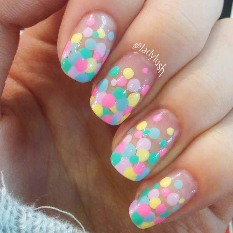 Rainbow French Tip Dotticure Nail Art By Anya Qiu