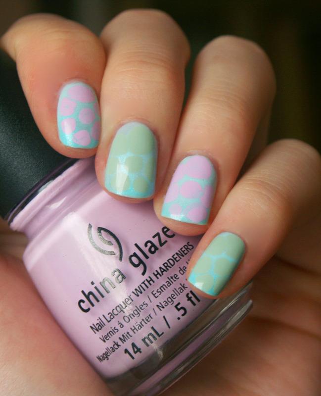 Pastel Turtle Shells nail art by Anya Qiu