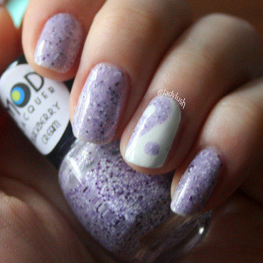 Sally Hansen White On and Mod Lacquer Blackberry Cream Swatch by Anya Qiu