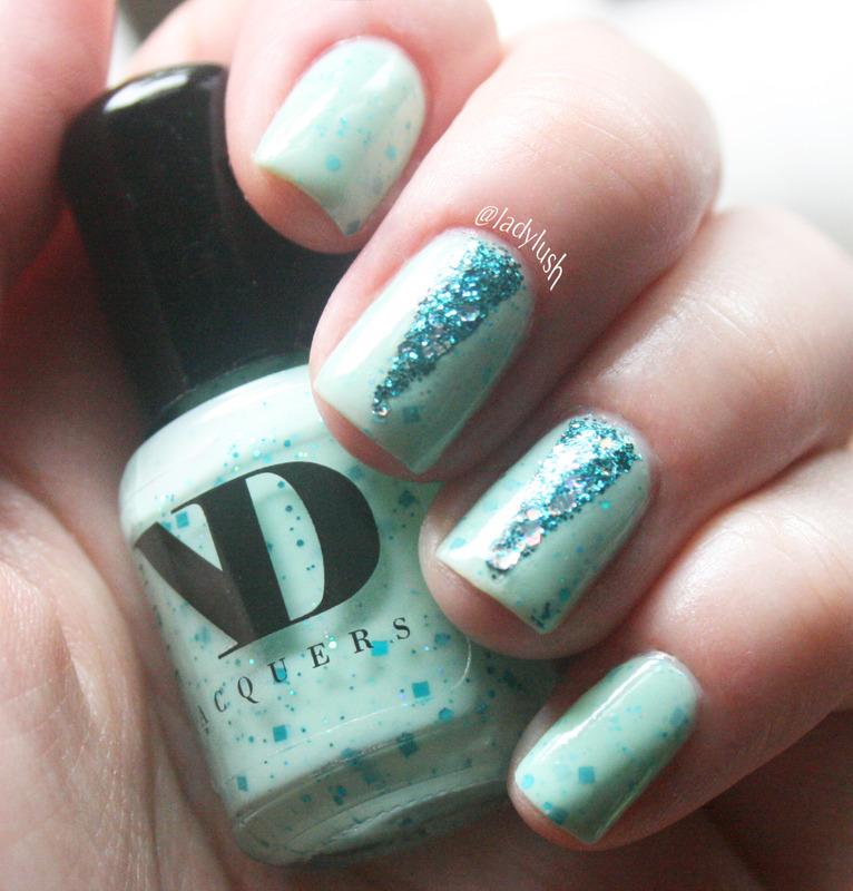 Glitter Triangles nail art by Anya Qiu
