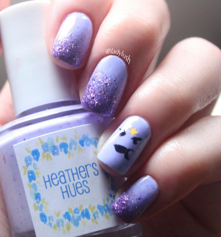 Lumpy Space Princess nail art by Anya Qiu