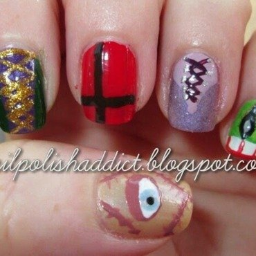It's Just a Bunch of Hocus Pocus nail art by Leah