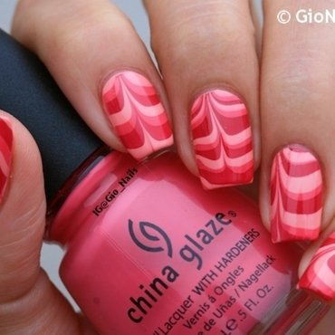 Pink Water Marble nail art by Giovanna - GioNails