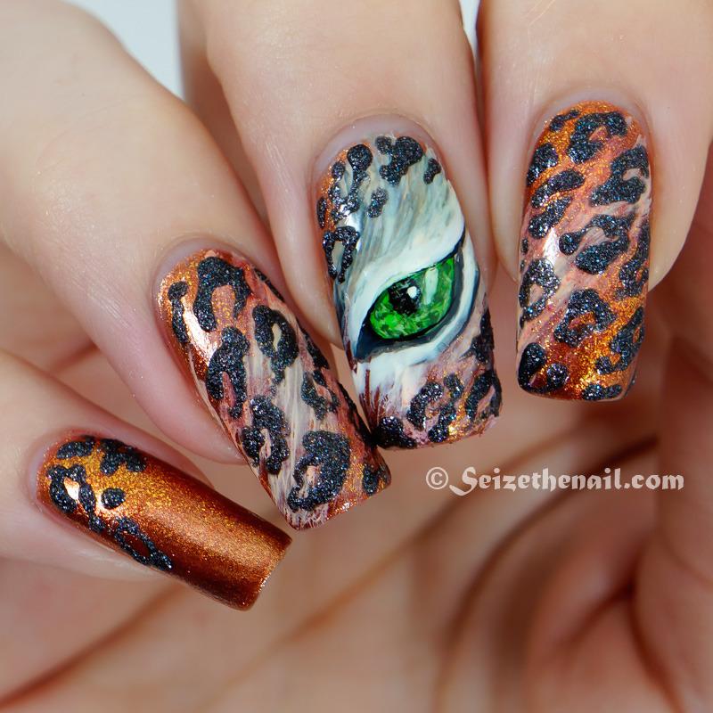 eye of the leopard! nail art by Bella Seizethenail
