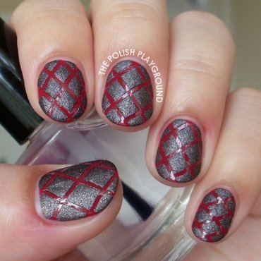 Glossy 20and 20suede 20diamond 20quilted 20striping 20tape 20nail 20art thumb370f