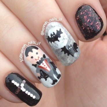 Count Cuteula! nail art by Hannah